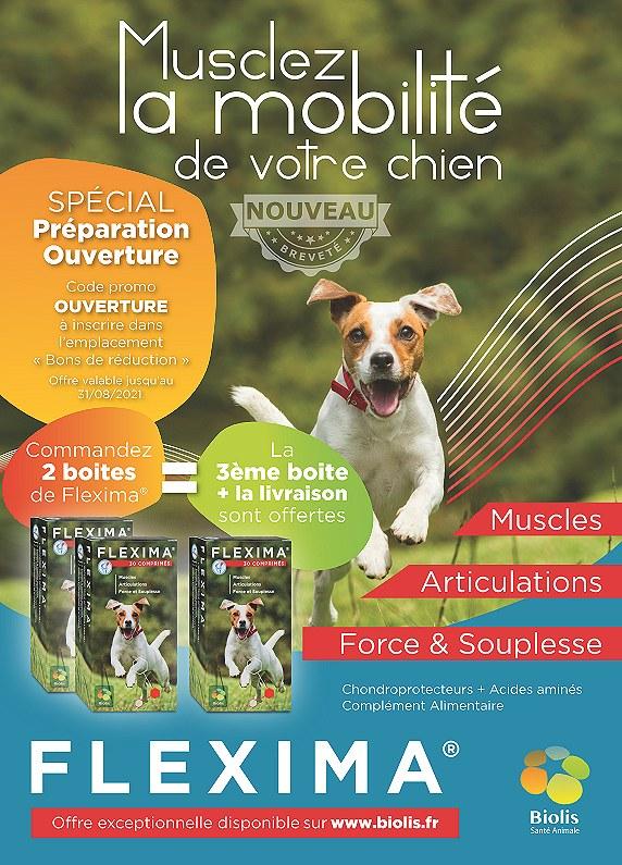 Flexima Musclez la mobilité de votre chien