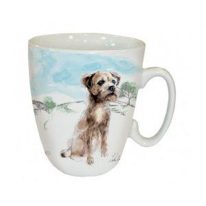 Mug Border Terrier a la campagne