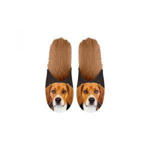 Paire de Pantoufles motif Beagle