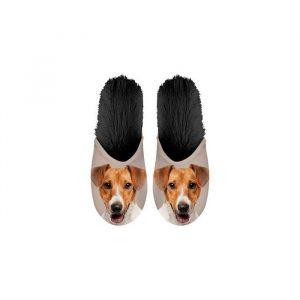 Paire de Pantoufles motif Jack Russel Terrier
