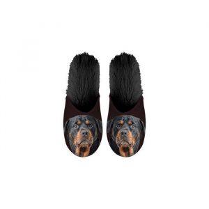 Paire de Pantoufles motif Rottweiler
