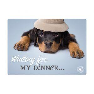 Set de table le Rottweiler attends son repas